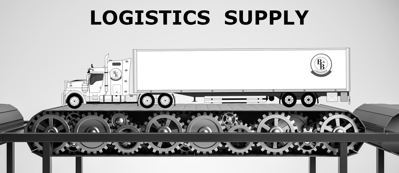logistics supply bb semi truck