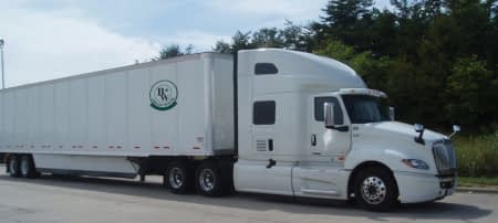 b&b logistics semi-trailer truck